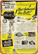 Metal Sign - 1950 Martin Outboard Boat Motors - Vintage Look Reproduction