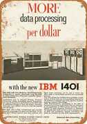 Metal Sign - 1961 Ibm 1401 Room Sized Computer - Vintage Look Reproduction