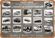 Metal Sign - 1952 Checker Taxi Cabs - Vintage Look Reproduction