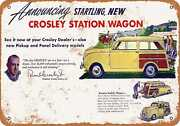 Metal Sign - 1948 Crosley Station Wagons - Vintage Look Reproduction