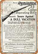 Metal Sign - 1910 Remington .22 Repeating Rifle - Vintage Look Reproduction