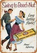 Metal Sign - 1952 Beech-nut Gum And Square Dancing - Vintage Look Reproduction