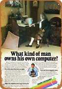 Metal Sign - 1980 Apple Computer And Ben Franklin - Vintage Look Reproduction
