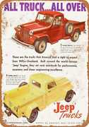 Metal Sign - 1947 Willys Overland Trucks - Vintage Look Reproduction