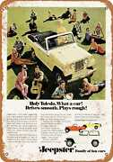 Metal Sign - 1967 Kaiser Jeepster Convertible - Vintage Look Reproduction