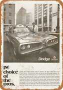 Metal Sign - 1970 Dodge Coronet Taxi Cab - Vintage Look Reproduction