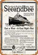 Metal Sign - 1920 Cleveland To Buffalo Seeandbee Steamers - Vintage Look Repro
