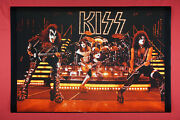 Kiss Rock Band Live Gene Simmons Stanley Peter Criss Ace Poster 24x36 New Kliv