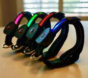 Premium Led Dog Collar Usb Rechargeable Bright Lighted Blinking Modes
