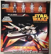 Star Wars Revenge Of The Sith Arc-170 Fighter + 4 Figures Costco Sams Club Rots
