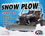 Kfi Honda And03909-and03913 500 Muv Big Red Plow Complete Kit 54 Steel Blade 4500lb Winch