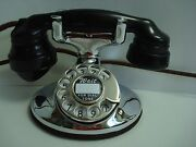 Antique Chrome Western Electric 202 Telephone Works