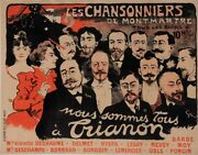 Original Vintage French Poster For Entertainment By Grun