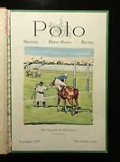 1931-32 Polo Magazine Volume Vi 8 Issues Bound Hunting Equestrian Horses Racing