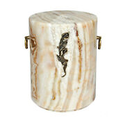 Stone Onyx Cremation Casket Funeral Ashes Urn Unique Human Memorial Urn Cremain