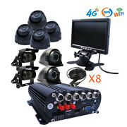 8ch Gps Wifi 4g 1080n Hdd Car Dvr Mdvr Video Record Realtime Monitor On Pc Phone