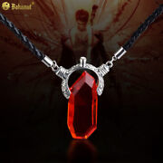 Japanese Game Devil May Cry Dante Cosplay Necklace Pendant Vergil Nephilim Ruby