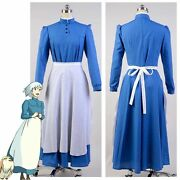 New Howls Moving Castle Sophie Hatter Maid Uniform Dress Cosplay Costume