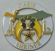 Shriners Oasis Cut Out Car Emblem In White