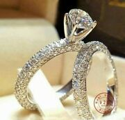 Cubic Zirconia Brilliant Cut Engagement Ring Set And Gift Box Ships Same Day
