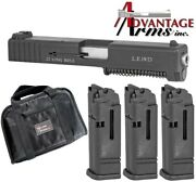 Advantage Arms Gen 1-3 For Glock 19 23 25 32 38 Aac19-23g3 + 3 Magazines
