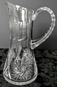 Baccarat Antique Rare 1930and039s High End Elaborate Crystal Red Wine Ewer-pitcher