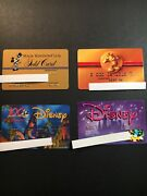 4 Expired Credit Cards For Collectors - Disney Lot 1 3208