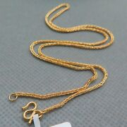 999 Fine Pure 24k Yellow Gold Necklace Womanand039s Wheat Link Chain 16.5l/ 6.5-7g