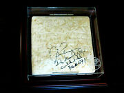 Alex Rodriguez Home Run 541 Stat Signed Yankees 2008 Game Used Base Steiner