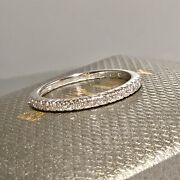 Sold Out Bony Levy 18 K White Gold Pave Diamond Stackable Band Ring Size 7