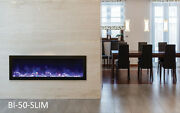 Amantii Bi-50-slim Panorama Series Electric Fireplace Built In Fire And Ice Deals