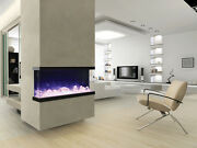 Amantii 50-tru-view-xl – 3 Sided Electric Fireplace Multi Color Lets Make A Deal