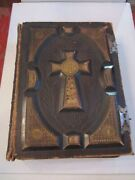Antique Holy Bible - Circa 1840and039s - Translated From The Latin Vulgate - Massive