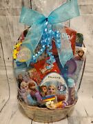 Frozen Ii Anna And Elsa Gift Basket Blue For Birthdays Easter And Celebrations