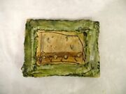 Jean Nicolas Gerard France Abstract Studio Art Pottery Footed Tray Plaque Dish