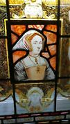 Reverse Painted Art Panel Mixed With Stained Glass Of A Queen