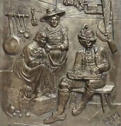 Antique Victorian Family Plaque By Roman Bronze Works