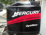 Mercury Boat Motor Cowl Decal Set In Red + Your Choice Of Hp Rating Optimax