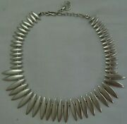 Mexican Silver Spike Rivet Collar Chain Necklace Fashion Jewelry Women Accessory