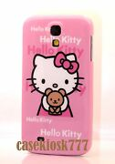 For Samsung Galaxy S4 Cute Hello Kitty S 4 Phone Case Cover Pink With Teddy Bear