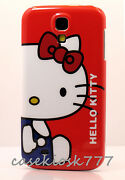 For Samsung Galaxy S4 Cute Hello Kitty Kitten Cat Phone Case White Blue Red Bow/