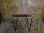 Antique Drop-leaf Maple Table Made By Tell City