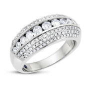 1.05 Carat Natural Diamond Fancy And Fashionable Band In Solid 14k White Gold