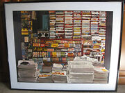 Rare Ken Keeley 100 Magazines 1980and039s 30/250 Signed Silkscreen Serigraph Large