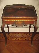 Antique French Louis Xv Ladyandrsquos Hand Painted Writing Desk