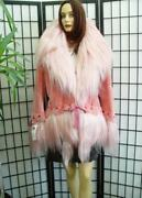 Brand New Pink Sheared Beaver And Goat Fur Jacket Coat Woman Women Size All