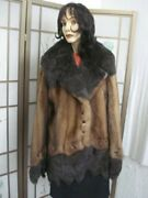 Refurbished New Pastel And Dark Ranch Mink Fur Coat Women Woman Size All