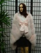 New Top Quality Baby Pink Fox Fur Stole Cape Wrap Woman Women