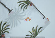 By The Yard Wooden Block Jaipuri Palm Tree Print 100 Cotton Voile Fabric Blue