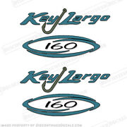 Key Largo 160 Bay Center Console Logo Decals Set Of 2 - Decal Reproductions
